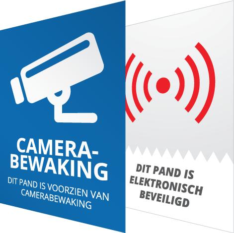 Beveiliging bewaking stickers