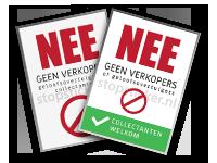 gratis colportage sticker promotie