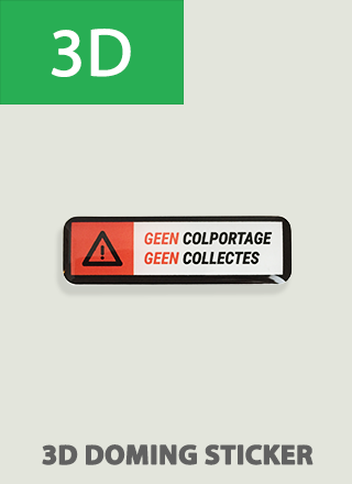 3D Anti colportage en collectes sticker