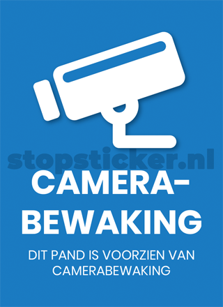 Camerabewaking sticker x1