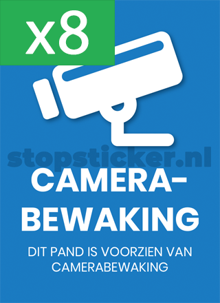 Camerabewaking sticker x8